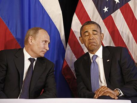 Владимир Путин и президент США Барак Обама. Фото: Reuters