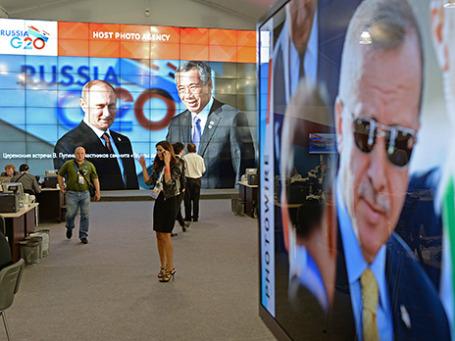 Международный пресс-центр саммита «Группы двадцати». Фото: РИА Новости
