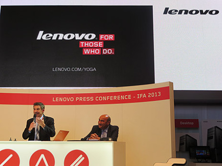 Пресс-конференция компании Lenovo на выставке IFA-2013 в Берлине. Фото: Марина Эфендиева/BFM.ru