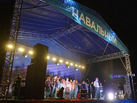 Оппозиционный политик Алексей Навальный выступает на митинге своих сторонников на Болотной площади. Фото: РИА Новости
