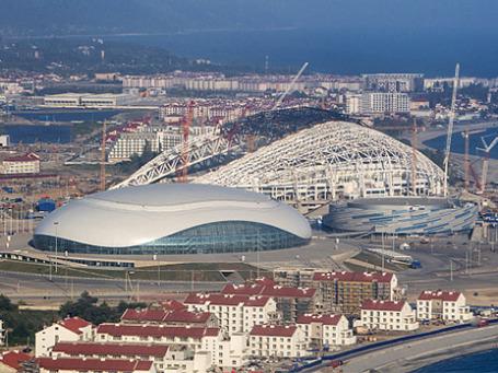Вид на ледовый дворец «Большой» в городе Сочи, где 26-29 сентября пройдет XII Международный инвестиционный форум. Фото: РИА Новости