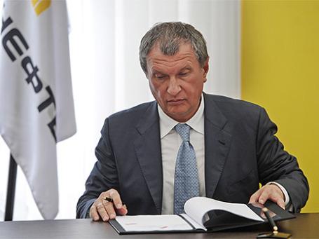 Глава компании «Роснефть» Игорь Сечин. Фото: ИТАР-ТАСС