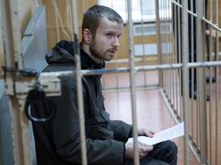 Павел Волков, задержанный за езду на мотоцикле по станции метро «Войковская».  Фото: РИА Новости