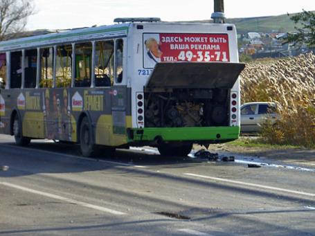 Пассажирский автобус, взорванный в Красноармейском районе Волгограда. Фото: РИА Новости