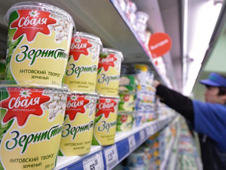 Литовская молочная продукция в московском супермаркете. Фото: РИА Новости