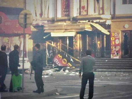 Место взрыва. Фото: twitter.com/Ramazan_Gaziev