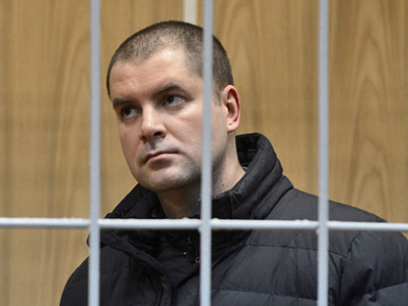 Максим Закутайло во время заседания в Хамовническом суде города Москвы 6 декабря 2012 года. Фото: РИА Новости