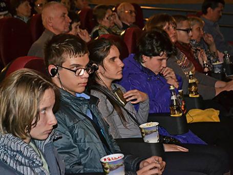 Зрители в кинотеатре «Полет». Фото: BFM.ru