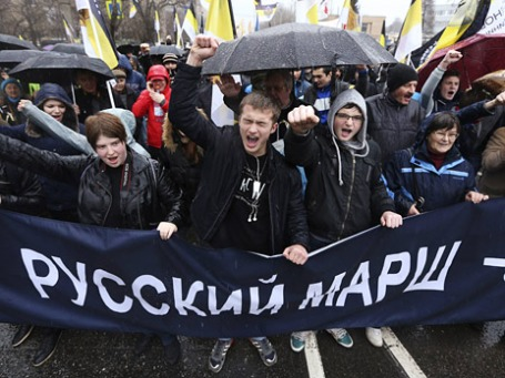 Участники «Русского марша». Фото: Reuters