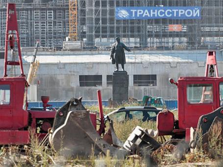 Строительство стадиона «Зенит-Арена» на Крестовском острове в Санкт-Петербурге. Фото: РИА Новости