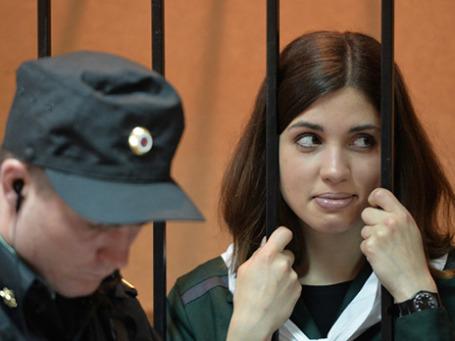 Участница панк-группы Pussy Riot Надежда Толоконникова.  Фото: РИА Новости