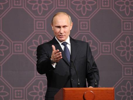Владимир Путин во время официального визита в Южную Корею. Фото: РИА Новости