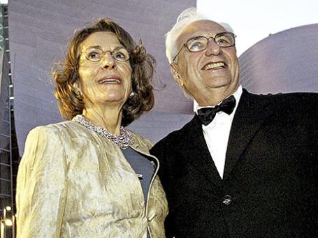 Диана Дисней Миллер с архитектором Фрэнком  Гери. Фото: Reuters