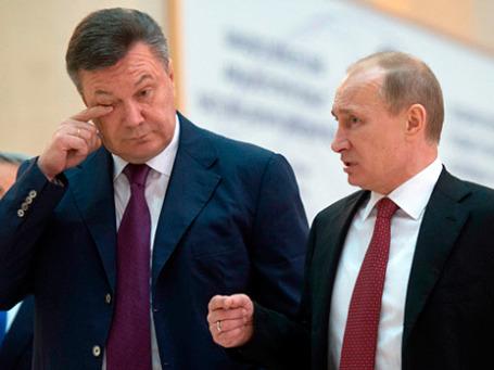 Президент Украины Виктор Янукович и президент России Владимир Путин. 5 декабря 2012 г. Фото: РИА Новости