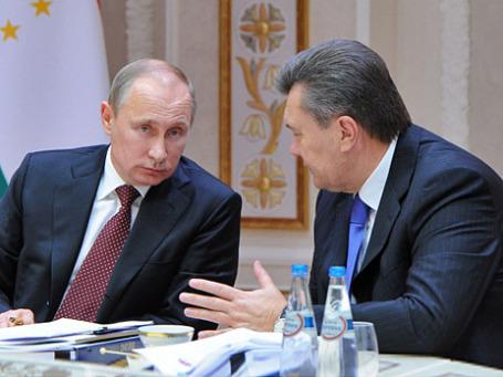 Президент России Владимир Путин (слева) и президент Украины Виктор Янукович. Фото: РИА Новости