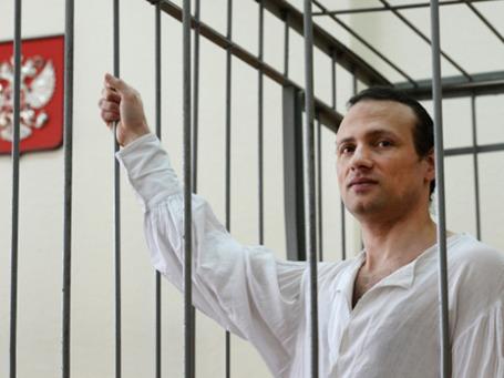 Илья Фарбер в зале заседаний Осташковского городского суда перед началом судебного заседания  24 сентября 2013 года. Фото: РИА Новости