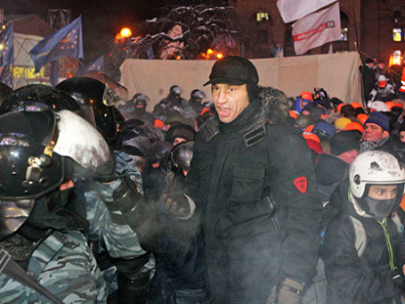 Виталий Кличко на Майдане. Фото: Reuters