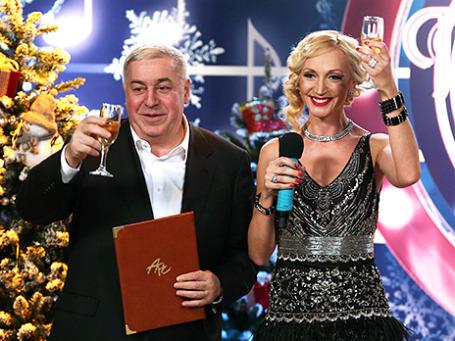Михаил Гуцериев и Кристина Орбакайте на шоу-концерте «Песня года-2013». Фото: ИТАР-ТАСС