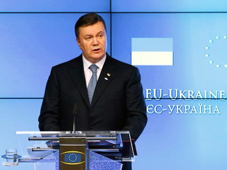 Виктор Янукович на саммите ЕС-Украина в Брюсселе 25 февраля 2013 года. Фото: Reuters