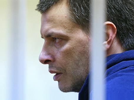Алексей Кабанов во время предварительных слушаний в Головинском суде 11 ноября 2013 года. Фото: ИТАР-ТАСС