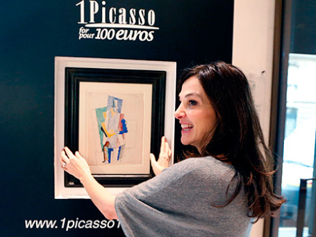 Перри Кочин, организатор благотворительной лотереи «Один Пикассо за 100 евро». Фото: Reuters