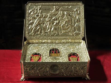 Серебряный ковчег c Дарами волхвов. Фото: честные-дары-волхвов.рф
