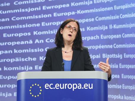 Еврокомиссар по внутренней политике Сесилия Мальмстрем. Фото: Reuters