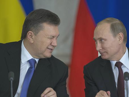 Президенты РФ и Украины Владимир Путин и Виктор Янукович. Фото: РИА Новости
