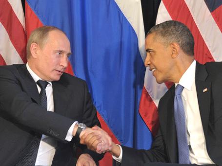 Президенты РФ и США Владимир Путин и Барак Обама. Фото: РИА Новости