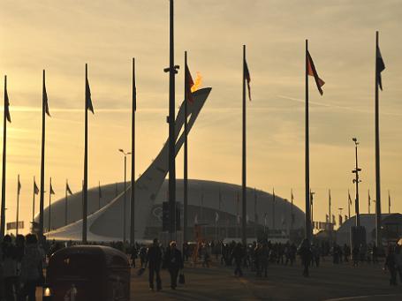 Олимпийский огонь в Сочи. Фото: Надежда Загрецкая/BFM