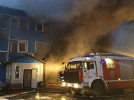 Пожар на улице Миклухо-Маклая 18 февраля 2014 года. Фото: МЧС РФ