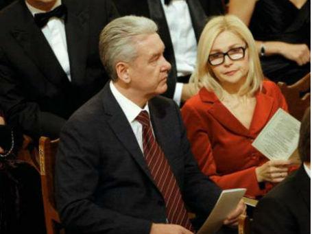 Сергей Собянин с супругой Ириной в Большом театре, 2011 год. Фото: РИА Новости