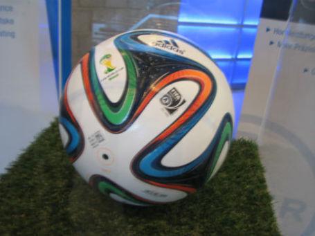 Инновационный мяч от Bayer и Adidas. Фото: Ольга Тимирчинская/BFM.ru