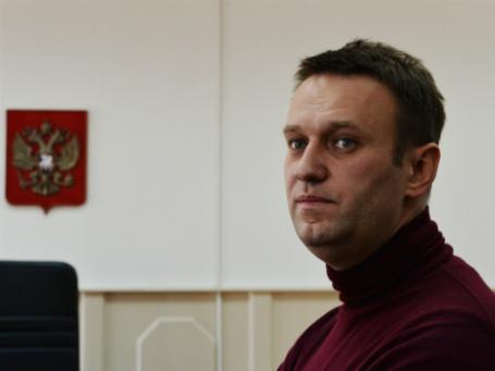 Алексей Навальный в Басманном суде Москвы 28 февраля 2014 года. Фото: РИА Новости