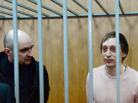 Ведущий солист балета Большого театра Павел Дмитриченко (справа) и Андрей Липатов. Фото: РИА Новости