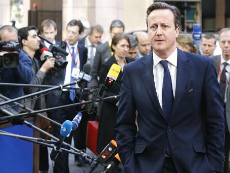 Премьер-министр Великобритании Дэвид Кэмерон на экстренном совещании лидеров Евросоюза по ситуации на Украине в Брюсселе 6 марта 2014 года. Фото: Reuters