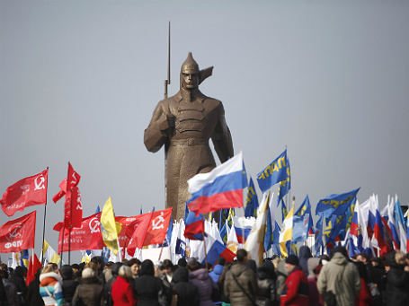 Митинг в Ставрополе в поддержку населения Крыма 7 марта 2014 года. Фото: Reuters