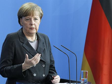 Немецкий канцлер Ангела Меркель на выступлении в Бундестаге. Фото: Reuters.