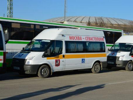 Колонна гуманитарной помощи Москвы Севастополю. Фото: ДВМС Москвы