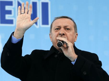 Турецкий премьер Реджеп Эрдоган. Фото: Reuters