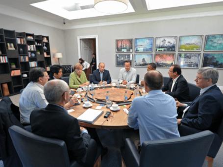 Рабочее заседание глав государств и правительств G8. Фото: РИА Новости