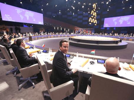Премьер-министр Великобритании Дэвид Кэмерон во время саммита по ядерной безопасности в Гааге 24 марта 2014 года. Фото: Reuters.