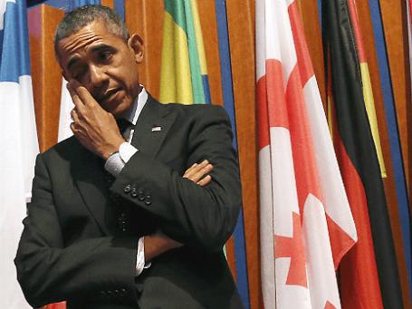 Президент США Барак Обама на заключительной сессии саммита по ядерной безопасности в Гааге. Фото: Reuters.