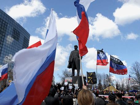 Митинг пророссийских организаций и политических партий в Донецке. Фото: ИТАР-ТАСС.