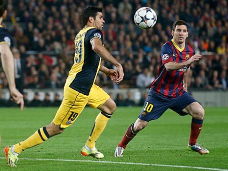 Четвертьфинал Лиги чемпионов, матч между «Барселоной» и «Атлетико»