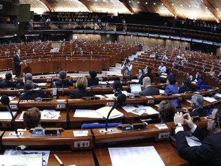 Комната заседаний Парламентской Ассамблеи Совета Европы в Страсбурге