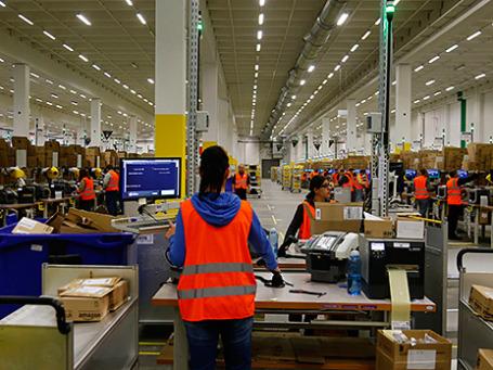 Распределительный центр компании Amazon под Берлином