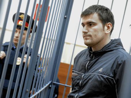 Обвиняемый по делу о массовых беспорядках на Болотной площади 6 мая 2012 года Алексей Гаскаров