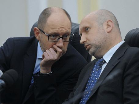И. о. президента Украины Александр Турчинов и премьер Арсений Яценюк