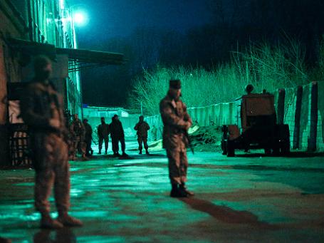 Военные на территории Донецкого областного военкомата